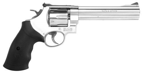 "Smith & Wesson 610, 10mm, 6.5"" Barrel, 6rd, Black Grips/Stainless"