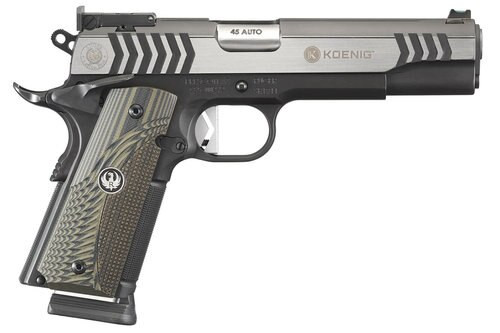 "Ruger SR1911 Competition Koenig, .45 ACP, 5"" Barrel, 8rd, Black Nitride/Stainless"