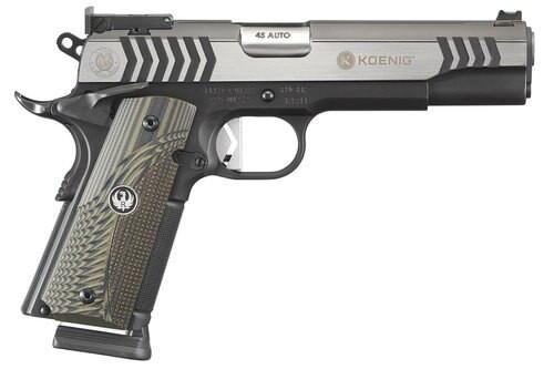 """Ruger SR1911 Target Koenig, .45 ACP, 5"""" Barrel, 8rd, Black Nitride/Stainless"""