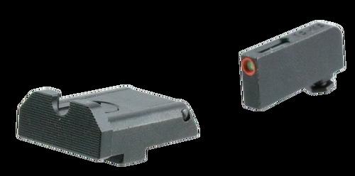Truglo TFX PRO Glock Sights, Tritium/Fiber Optic, Orange Outline