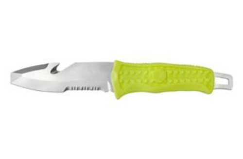 """Benchmade H20 Dive, Fixed, 3.43"""", Blunt Tip, Combo-Edge, Yellow"""