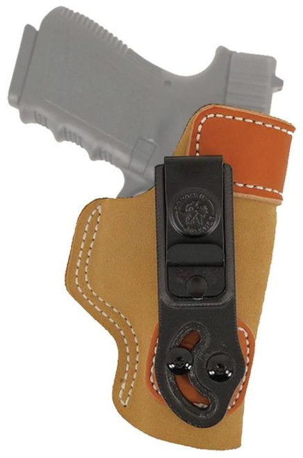 Desantis Softuck Glock 26/PPS/PK38, Tan Saddle Leather/Suede