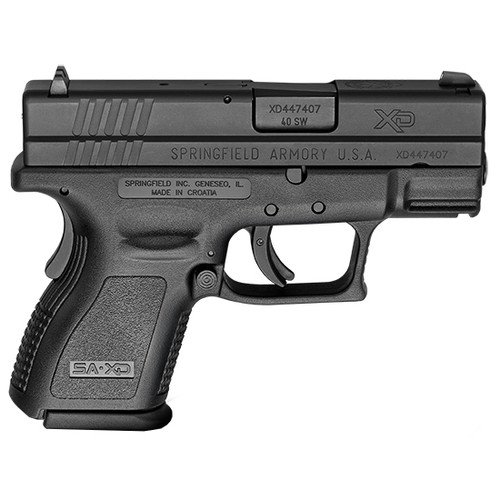"Springfield XD Sub-Compact Essential Package, .40 S&W, 3"" Barrel, 12rd, Black"
