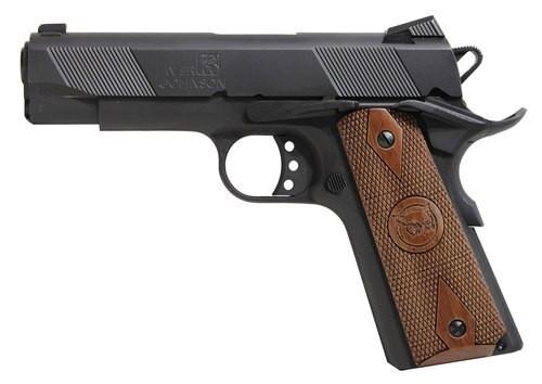"Iver Johnson 1911 Hawk Commander, 9mm, 4.25"", 9rd, Walnut Grips, Black"