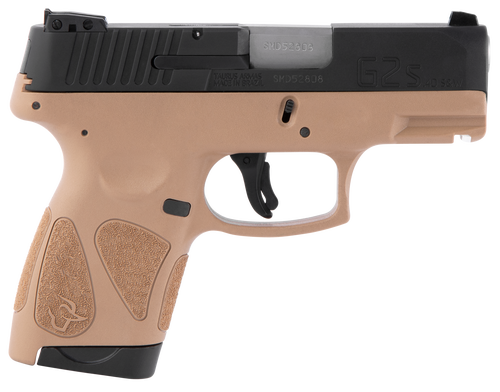 """Taurus, G2S, Single Action, Sub Compact Pistol, 40 S&W, 3.25"""" Barrel, Polymer Frame, Tan Finish, Fixed Front Sight With Adjustable Rear, 7 Round, 2 Magazines"""