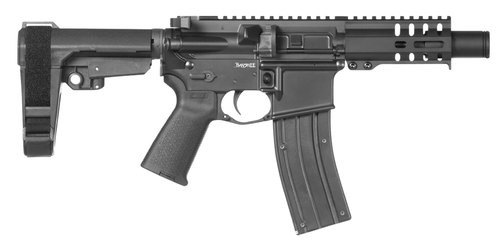 "CMMG Banshee 300 MK4, .22 LR, 4.5"", 25rd, KAK Flash Can, Black"