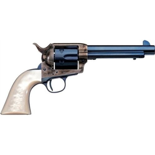 "Uberti 1873 Cattleman Frisco, .45 Colt, 4.75"", 6rd, Pearl Grips, Charcoal Blue"