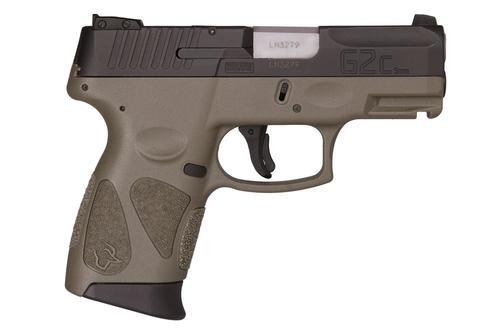 "Taurus G2C, 9mm, 3.26"" Barrel, 12rd, Black Slide, OD Green"