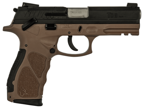 "Taurus TH9, 9mm, 4.25"" Barrel, 17rd, Black Slide, Brown"