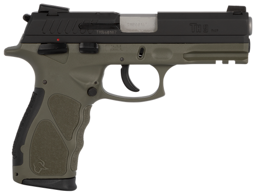 "Taurus TH9C 9mm, 3.54"" Barrel, Polymer Frame, Black/OD Green Finish, 17Rd, 2 Magazines"
