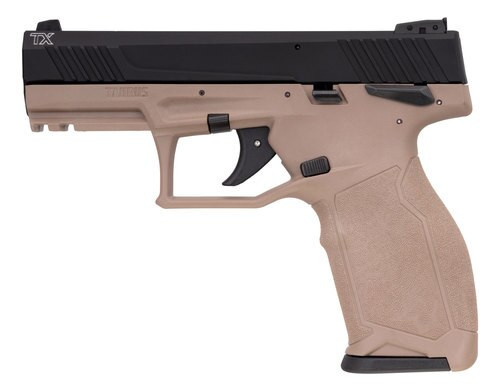 "Taurus TX22, .22 LR, 4"" Barrel, 16rd, Threaded Barrel, Black Slide,  Flat Dark Earth"