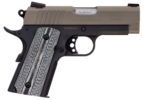 "Taurus 1911 Officer, .45 ACP, 3.51"" Barrel, 7rd, Sand Slide, Black"