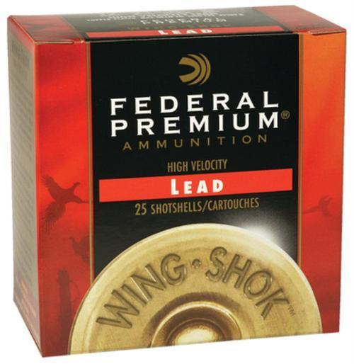 "Federal Premium WingShok Magnum Lead 20 ga, 2.75"", 1-1/8oz, 4 Shot, 25rd/Box"
