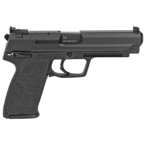 "HK USP45 Expert 45 ACP, 5"" Barrel, Polymer Frame, Black, 12Rd, 2 Magazines, Adjustable Sights"