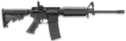 "DPMS LCAR AR-15 5.56/.223, 16"" Barrel, Magpul Flip Sight, 6-Pos Stock, 30rd Mag"