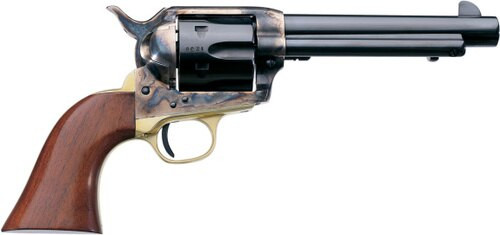 "Uberti 1873 Cattleman Brass, .22 LR,  5.5"", 6rd, Walnut Grips, Case-Hardened"