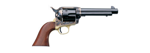 "Uberti 1873 Cattleman Steel, .22 LR, 5.5"", 6rd, Walnut-Grips, Case-Hardened"