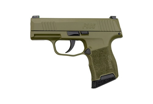 "Sig P365 OD Green 9mm, 3"" Barrel, Sig XRay3 Night Sights, 10rd Mag"
