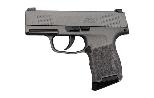 "Sig P365 Tungsten Gray 9mm, 3"" Barrel, Sig XRay3 Night Sights, 10rd Mag"