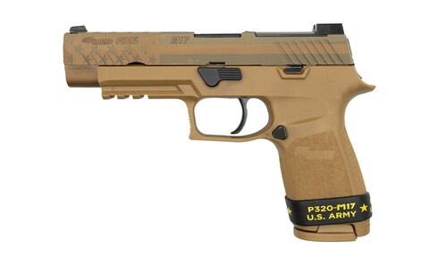 "Sig P320-M17 Freedom Slide 9MM 4.7"" Barrel NO Manual Safety, Night Sight Plate, 2- 17rd Mags"