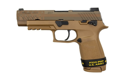 "Sig P320-M17 Freedom Edition 9MM 4.7"" Barrel Manual Safety, Night Sight Plate, 2- 17rd Mags"