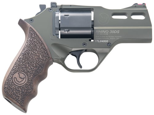 "Chiappa Rhino 30SAR, CA Legal, .357 Mag, 3"", 6rd, SAA, Walnut, OD Green"