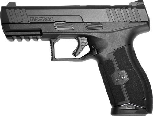 "IWI MASADA Striker-Fire Double 9mm 4.1"" Barrel, Black Polymer Grip, 17rd"