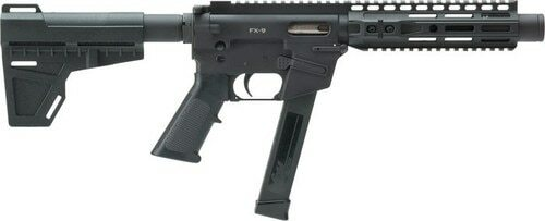 "Freedom Ordnance FX-9 Pistol 9mm, 8"" Barrel 33rd Mag, M-Lok, Shockwave Blade Brace"