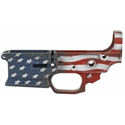 Sharps Bros AR-15 Gen 2 Livewire Billet Lower Receiver, Multi-Cal American Flag Cerakote, 7075 Billet Aluminum