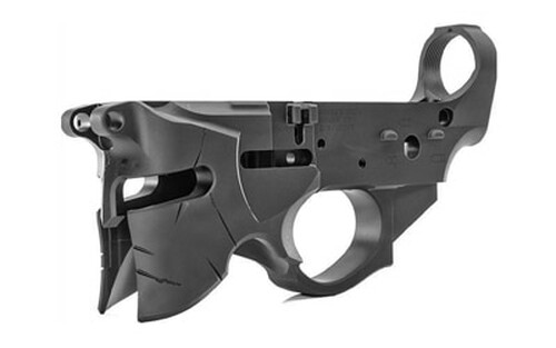 SHARPS BROS Overthrow Stripped Lower AR-15 Multi-Caliber Black Hardcoat Anodized