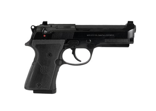 "Beretta 92X Compact 9mm, 4.3"" Barrel, Classic Dust Cover, Black, 10rd"
