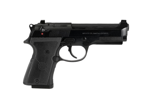 "Beretta 92X Compact 9mm, 4.3"" Barrel, Classic Dust Cover, Decock-Only, Black, 13rd"