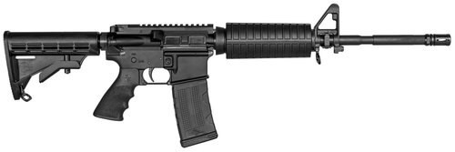 "Rock River Arms LAR-15 Entry Tactical 223/5.56, 16"" Chrome Lined Barrel, 6 Position Black Stock, Black, 30rd Mag"
