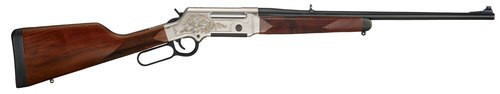 "Henry Long Ranger Deluxe 5.56/.223, 20"" Barrel, Checkered Straight Grip, Nickel Plated, 24k Gold Inlay, 5rd"