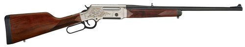 "Henry Long Ranger Deluxe .243 Win. 20"" Barrel, Checkered Straight Grip Stock, Nickel Plated /w 24k Gold Inlay, 4rd"