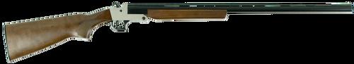 """Hatfield SGL Break-Open 410 Ga, 28"""" Barrel, 3"""" Chamber, Wood Stock, Silver Receiver, 1rd"""