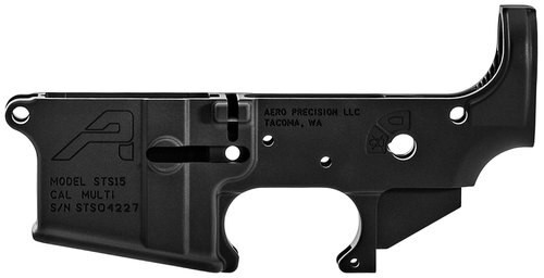 Aero Precision STS AR-15 Stripped Lower Receiver, Black