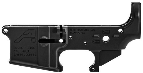 Aero Precision AR-15 Pistol Marked Stripped Lower Receiver, Black