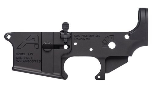 Aero Precision AR-15 Ambidextrous Stripped Lower Receiver, Black