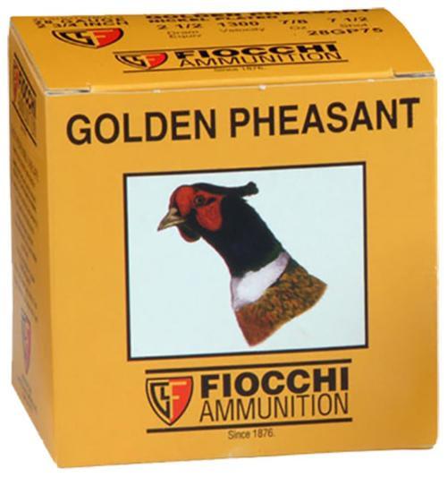 """Fiocchi Golden Pheasant Shotshells 28 Ga, 2.75"""", 7/8oz, 7.5 Shot, 25rd/Box"""