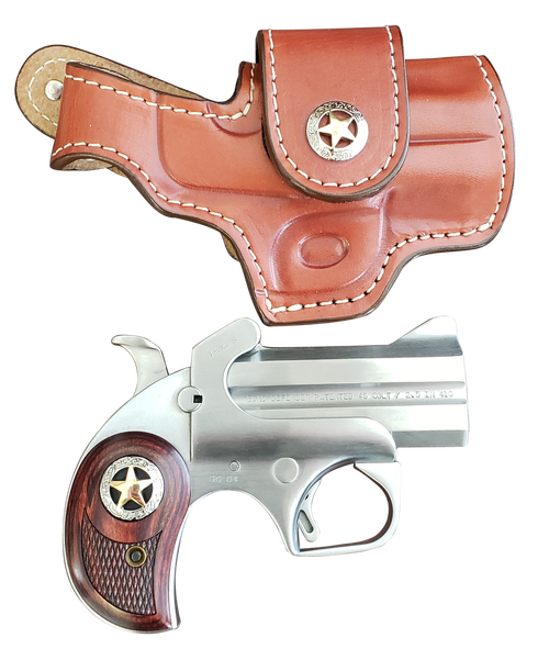 "Bond Rustic Defender 45 Colt/410 Ga, 3"", Two Tone, Holster Included"