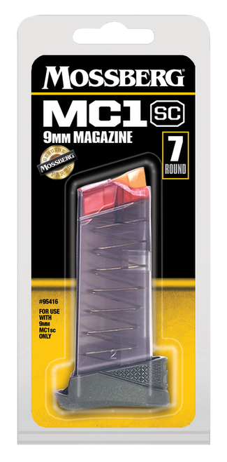Mossberg Magazine, 9mm, 7Rd, Clear, Fits Mossberg MC1SC