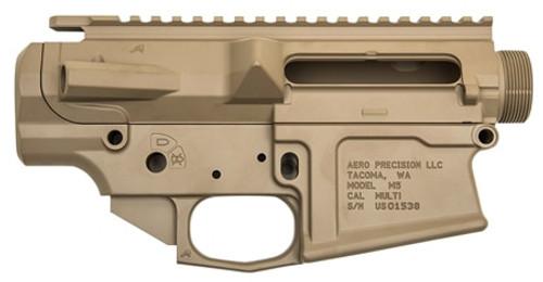 Aero Precision AR-10 M5 Stripped Receiver Set, Flat Dark Earth