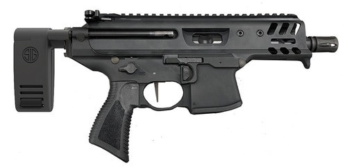 """*D*Sig MPX Copperhead K 9mm, 4.5"""" Barrel, M-LOK, Telescoping Rapid Deploy Brace, Black, 15rd"""