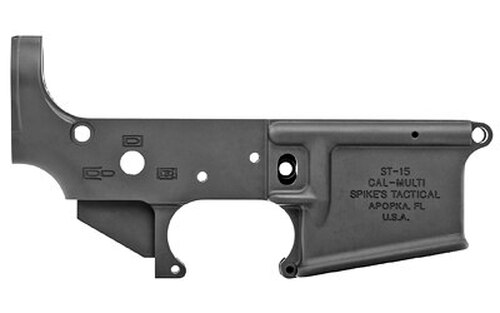 Spikes No Logo II Stripped Lower Receiver, Black