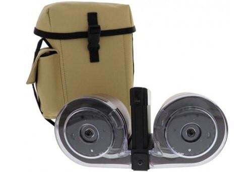 IVER JOHNSON DRUM MAGAZINE 100 Rd AR-15 5.56NATO/.223Black/Tan POLY