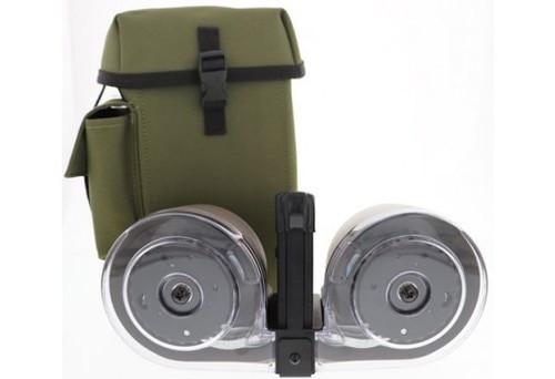 IVER JOHNSON DRUM MAGAZINE 100 Rd AR-15 5.56NATO/.223Black/Green POLY