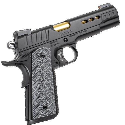 """Kimber Rapide 10mm ACP, 5"""" Barrel, Black WavZ G10 Grips, KimPro II Slide/Frame, 8rd"""