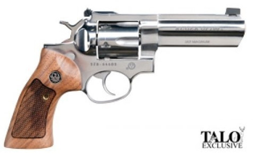 "Ruger GP100 Limited Edition 357 Mag/38 Spl 4"" Full Lug Barrel, High Polish SS, Adjustable Sights Wood Grips 6rd"