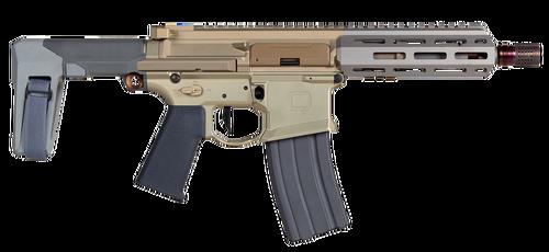"Q Sugar Weasel AR-15 Pistol 300BlackOut 7"" Barrel, Flat Dark Earth, SBA3 Pistol Stabilizing Brace, 30rd Mag"